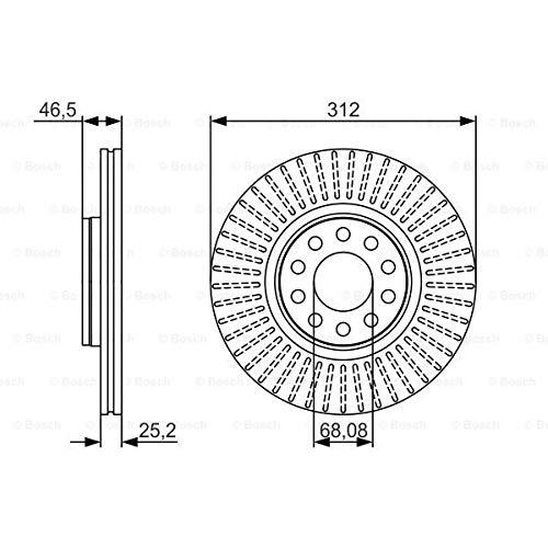 Bosch 0 986 479 A30 - Discos de freno (2 unidades)