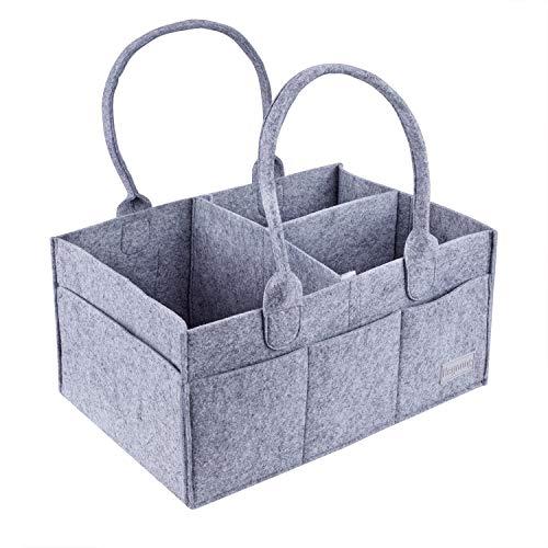 Baby Windel Caddy, faltbare tragbare Kindergarten Veranstalter Lagerplatz Filz Korb Einkaufstasche für Windeln, Baby Tücher, Wickeltisch, Organisation zu Hause
