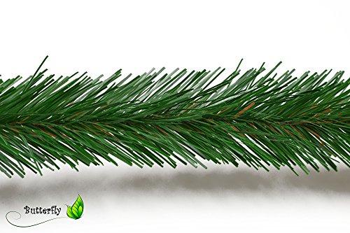 3m Tannengirlande 5cm grün Basteln Floristik Tannenkette Weihnachtsgirlande Bastelgirlande Weihanchten Advent Karneval Deko Girlande