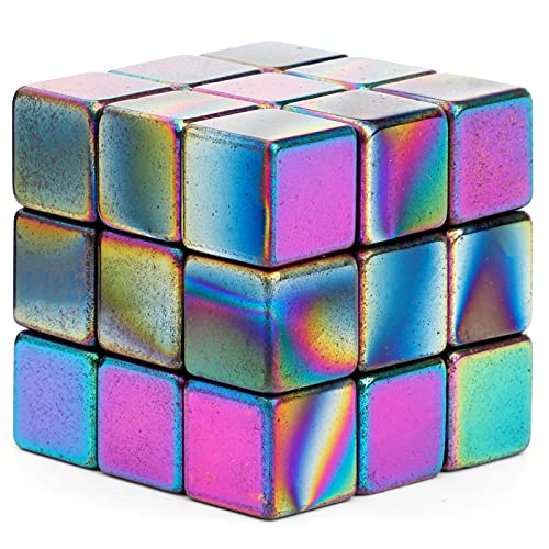 DIY Science Kit, Large Fidget Magnets Cube Magnetic Blocks Rainbow, Hematite Magnetic Magnet Stones Building Blocks, Refrigerator Magnets for Home Office Kids, Party Supplies Favours Gift (27 PCS )