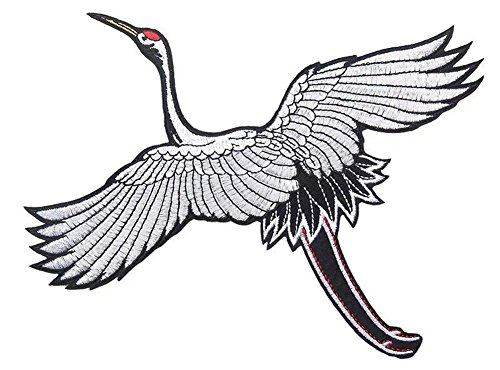 RoseSummer 1pcs DIY Red-Crowned Crane Embroidery Applique Patches Sew on Clothing Accessories