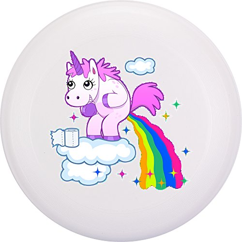 Eurodisc 175 g 4,0 Ultimate biologische kunststof frisbee Unicorn (clouds wit)