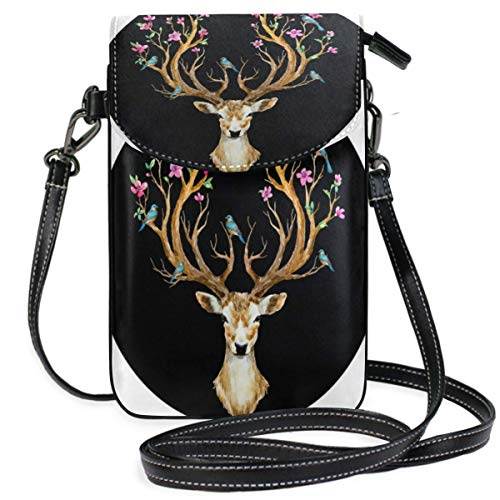 XCNGG Deer Cell Phone Purse Wallet for Women Girl Small Crossbody Purse Bags