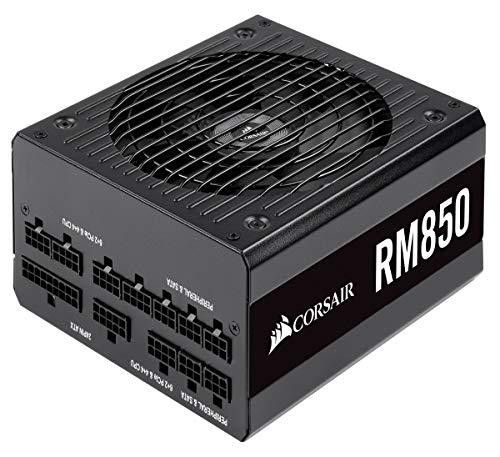 Corsair RM850, RM Series Alimentation PC (Entièrement Modulaire ATX, 80 Plus Gold, 850 Watt) - Noir (EU)