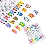 othulp Pennarelli Professionali Pennarelli per Tessuti Bambini Colorazione Penne Feltro Punta Penne per I Bambini Pennarelli per dipingere