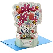 Hallmark Peanuts Pop Up Mother's Day Card with Song for Mom (Snoopy Displayable Bouquet) (999MDL2004)