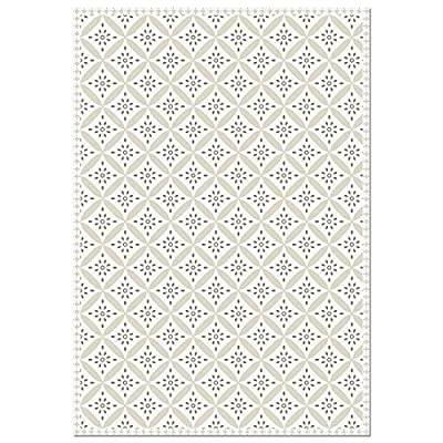 Unknown1 Decorative Vinyl Floor Mat Mosaic Tile 4.5' X 6.5' Multi Color Patterned Rectangle Latex Free Stain Resistant