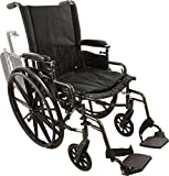 Roscoe Medical W418168S Onyx K4 Wheelchair with Swing Away Footrests,...