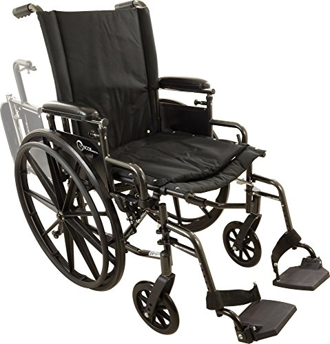 """Roscoe Medical W418168S Onyx K4 Wheelchair with Swing Away Footrests, 18"""""""