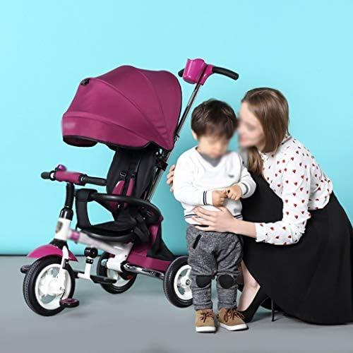 HhGold Kinder Dreirad faltbar 1-3-6 Jahre alt Trolley Kind fürrad Kinder 3 R r (Farbe  lila) (Farbe   Lila, Größe   -)