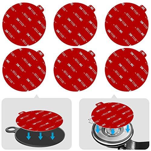 Anteel - Kit de repuesto adhesivo adhesivo adhesivo para salpicadero (70mm), diseño de círculos resistentes al calor de doble cara para ventosa de coche, disco y parabrisas
