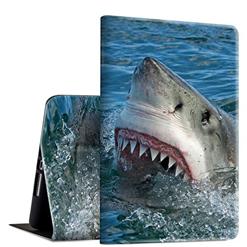 iPad Pro 10.5 2017/Air 3rd Gen 2019 Case, Rossy PU Leather Folio Smart Cover TPU Shock Case with Adjustable Stand & Auto Wake/Sleep Feature for Apple iPad Air 3rd Gen,Great White Shark