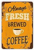 コーヒーバディメタルティンサインカフェ壁の装飾コーヒーエンターテインメントサインバー書店コーヒーホームキッチンハンギングアートワークプラークウォールアート装飾ヴィンテージサインギフト8インチX12インチ(20cm X 30cm) メタルプレートブリキ 看板 2枚セットアンティークレトロ