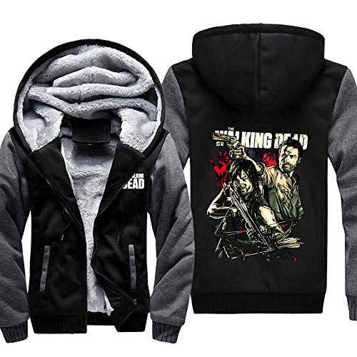 THICKEN Warm Hoodie The Walking Dead Darryl Armbrust Männer Bruder Jacke Winter Plus Velvet Starke Mit Kapuze Strickjacke Tops 1-M