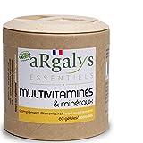 Multivitaminas y minerales | 17 Nutrientes | Magnesio + Vitaminas B12, D3 y A, B, E, K1 y H | Yodo, Selenio | Hombre/Mujer | Vegan | 60 cápsulas made in France | Argalys Essentiels
