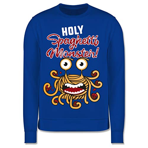 Shirtracer Up to Date Kind - Holy Spaghetti Monster! - 128 (7/8 Jahre) - Royalblau - Fun - JH030K - Kinder Pullover