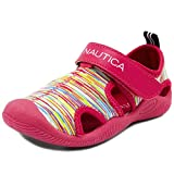 Nautica Kids Kettle Gulf Protective Water Shoe,Closed-Toe Sport Sandal For Boys and Girls-Neon Multi-12