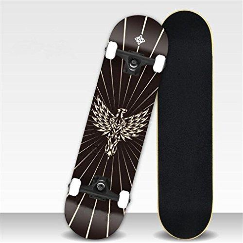 ZERO FAN Skateboard, Skate Board, Skateboards-Professional Shock Widerstand Wasserdicht Chrismas Geschenk Für Kinder Amateur Erwachsene,Black