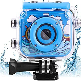 AMERTEER Waterproof Kids Camera with 2.0 Inch LCD Display 12MP Photo Resolution & 1080P Video Resolution Underwater Childr...