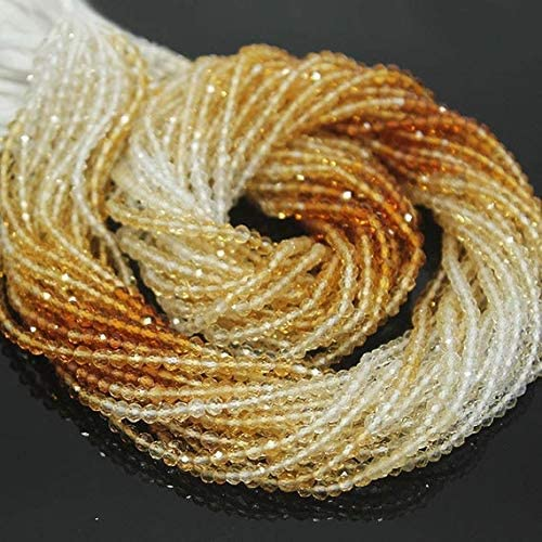 GemAbyss Beads Gemstone Large-scale sale Shaded Golden Micro Citrine Faceted Loos 70% OFF Outlet