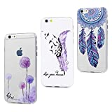 MAXFE.CO 3X Coque pour iPhone 6S/iPhone 6 Silicone Gel TPU Protection Original Motif...