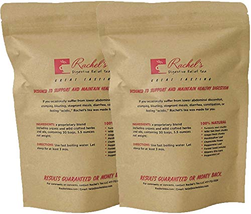 (60 Bags/120 Cups) Upset Stomach Specialty Tea Bags Diverticulitis Pain Free Foods Diverticulosis Crohn's Disease and Colitis