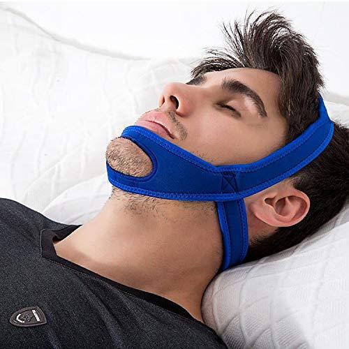 Sleep Lab's Anti Snoring Correa De Barbilla, Solución Eficaz Que Promueve La Circulación De La Sangre, Dispositivo Ajustable para Dejar De Roncar - Sleep Best Snore Correa para Hombres,Blue