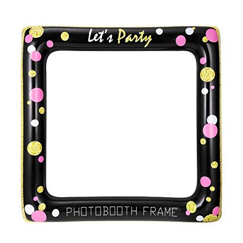 LUOEM Aufblasbare Rahmen Selfie Photo Booth Requisiten Party Rahmen Geburtstag Brautdusche Baby Shower Hochzeit Bevorzugungen