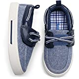 tombik Toddler Boys Shoes Kids Canvas Sneakers Boat Shoes for Walking Fall Navy Blue 8 US Toddler