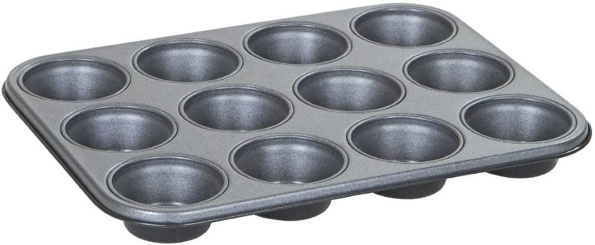 Wham Baker Salt Non Stick 12 Cup Cupcake Muffin Yorkshire Pudding Tin Tray Made In UK