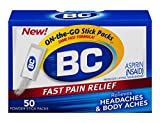 Aspirin powder with caffeine Temporarily relieves minor aches and pains due to: headaches, backache, toothache, menstrual cramps, muscle aches and colds Fast pain relief On the go powder stick packs 50 powders
