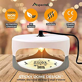 ASPECTEK Favored-Trapest Sticky Dome Bed Bug 2 Glue Discs.Odorless Non-Poisonous and Natural Flea Killer Trap Pad Family, Children and Pets Friendly, Best Pest Control, White