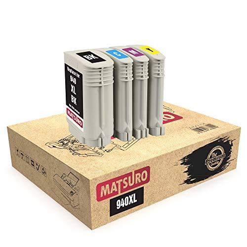 Matsuro Original | Compatible Cartuchos de Tinta Reemplazo para HP 940XL 940 XL (1 Set)