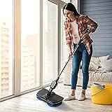 Ricaricabile a 360 ° di rotazione cordless Piano pulitore Scrubber lucidatrice elettrica rotante Mop Mop in microfibra di pulizia per la casa (verde e nero)