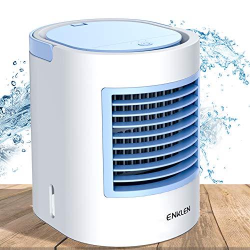 ENKLEN Aire Acondicionado portátil, refrigerador portátil, Forma fácil y rápida de refrescar el Espacio Personal, Adecuado para la habitación, la Oficina y la Sala de Estudio.