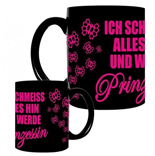 Kaffeetasse Tasse mit Frauen Spruch Prinzessin PINK