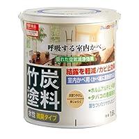 アトムハウスペイント 水性竹炭塗料 1.6L 炭調黄ジュラク