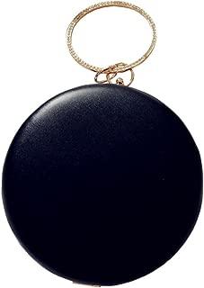 circle handle handbag
