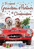 Tarjeta de Navidad para nieto y socio – 9 x 6 pulgadas – Regal Publishing