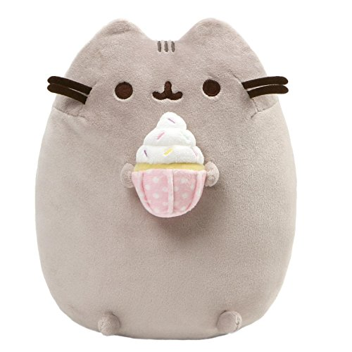 GUND Pusheen Snackables Sprinkled Cupcake Plush Stuffed Cat, 9.5