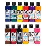 Monalisa Acrylfarben Set mit 12 Farben 70 ml. zum Malen auf Holz, Stein und Leinwand, für Kinder, Erwachsene, Hobbymaler und Studenten