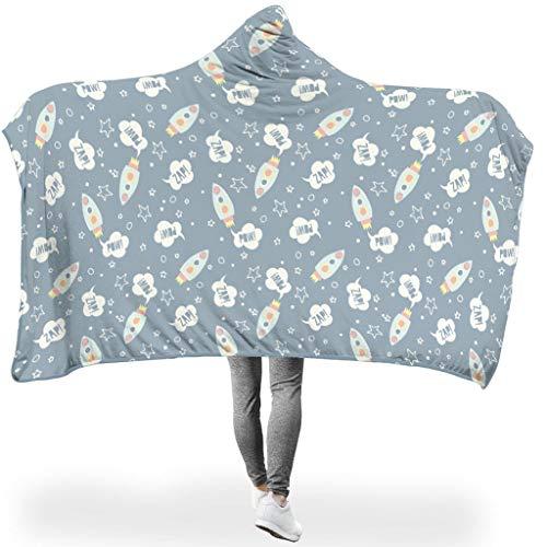 Rinvyintte kunstzinnige afbeelding ruimtevaarttechniek knuffelig verschillende patronen hoodie wearable super soft throw blanket pluisvrij voor thuisbank in koud weer casual stijl artistieke