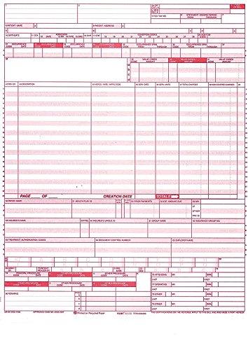 "UB-04 (CMS 1450) Health Hospital Insurance Claim Form, Laser 8-1/2 x 11"" 100 Forms Per Pack"