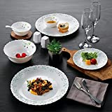 Cello Opalware Dazzle Tropical Lagoon Dinner Set, 35PCs, White