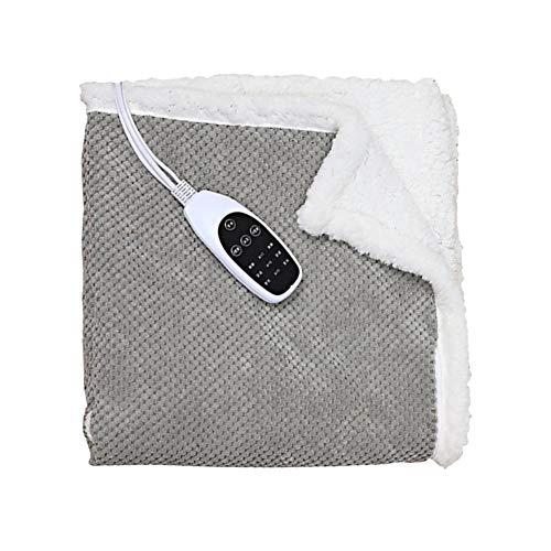 HUVE Elektrisk värmefilt snabbuppvärmning dubbelsidig värmefilt med timerinställningar för helkroppsuppvärmning, maskintvättbar, hemmakontor, 50 x 70 cm