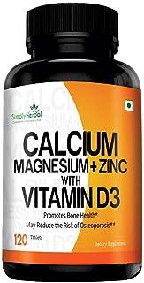 Simply Herbal Calcium, Magnesium, Zinc, D3 & B12 Tablets - 120 Tablets (1)
