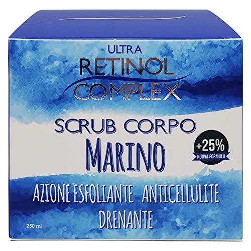 Exfoliante Corporal Marino Anticelulítico Drenante con Aceite De Jojoba y Almendra Dulce, Exfoliante Natural, Elimina la Piel Muerta