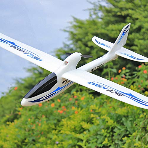 HBBOOI RC Plano del Planeador de Control Remoto Aeroplano de Control de 2,4 GHz Radio con 6-Axis Gyro estabilizador for Principiantes