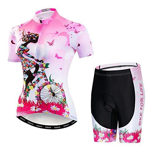 Fietskleding voor dames, fietsshirts +3D Gel Pad Shorts voor buiten fietsen