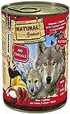 Natural Greatness Comida Húmeda para Perros de Reno y Arenque con Yogur, Banana y Fresas. Pack de 6...